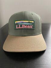 New LL Bean Katahdin Trucker Hat Green Snapback Adjustable