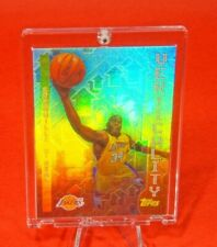 Topps Verticality Shaquille O'Neal Lakers Jersey Special Rare Rainbow Refractor