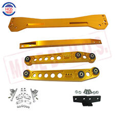 GOLD Rear Lower Control Arm & Subframe Brace & Tie Bar For 96-00 Honda Civic EK