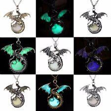 Game of THRONES dragón Collar Colgante LUMINOSO Brillante Mujer Hombre Unisex