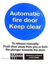 Dorgard Fire Door Retainer DOOR SIGN Self Adhesive Vinyl - Doorguard £2.08 + VAT