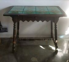 SUPERB 1920'S MONTEREY CALIFORNIA TILE TOP TABLE WITH DRAWER