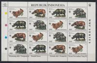 Indonesien (Indonesia) - Michel-Nr. 1648-1651 als Kleinbogen, postfrisch/** (WWF