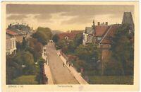 Ansichtskarte Bünde/Westfalen - Blick in die Gartenstrasse mit Passanten - 1921