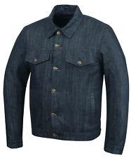 Black Denim Jeans Trucker Jacket Biker Motorcycle Fashion Fabric Textile armour
