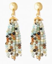 CHARMING CHARLIE AMAZONITE FRINGE BEADED EARRINGS Premium Collection