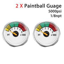 2x Custom 5000psi Mini Micro Paintball Air CO2 Pressure Gauge 1/8NPT Threads