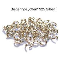 """10x Biegeringe 5,9 mm """"offen"""" extra stark 925 Silber Schmuckzubehör"""