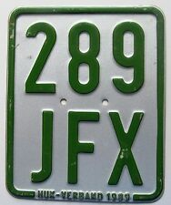 Germany 1989 MOPED License Plate HIGH QUALITY # 289 JFX