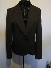 A WOMENS LOVELY BROWN NEW LOOK JACKET SIZE 14 BUTTON FASTENER