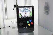 Black Custom Gameboy Advance Pigrrl Rasberry pi 3 RetroPie 6000mah battery NES