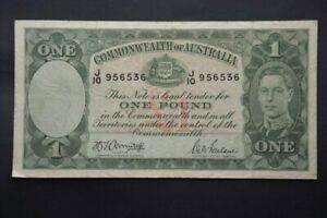 Australian 1942 £1 Pound Armitage McFarlane KGVI Banknote R30a 'J10'