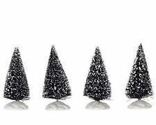 "LEMAX CHRISTMAS VILLAGE HOUSE ACCESSORIES - 4 MINI BRISTLE TREES 2.5"" #14005"