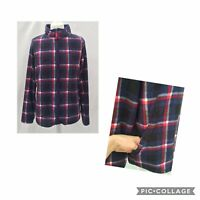 Checked Tartan Zip Up Funnel Neck Fleece Size 16 F&F Bnwot Pockets