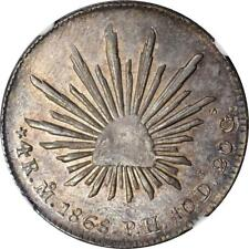 1868 Mo PH Mexico 4 Reales, NGC MS 62, KM 375.6, Single Finest Known Example