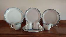 McNicol China Restaurant ware Greek Key pattern, 4 dinner plates and mugs