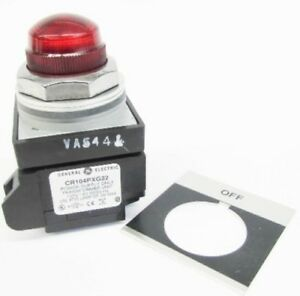 New GE CR104PLG32RA2 120V Off Red Lens Transformer Pilot Light NIB