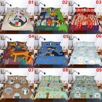 Painting Cat Single/Double/Queen/King Bed Quilt/Doona/Duvet Cover Set Pillowcase