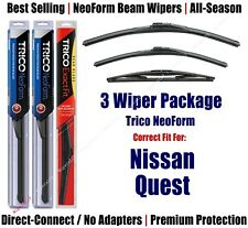 3-Pack Wipers Front & Rear NeoForm - fit 2011-2017 Nissan Quest - 16260/190/12B