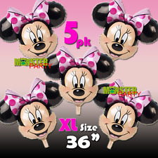 "NEW XL 36"" 5 PACK PINK MINNIE DISNEY FOIL BIRTHDAY PARTY BALLOON !!"