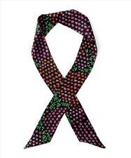 Echo Ditzy Garden Floral Print Silk Skinny Mini Neck Scarf - Headwrap #3750