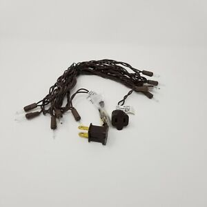 LS010-08 10 Light Clear Craft Mini Light Set, End to End, Brown Wire, 9.5' long