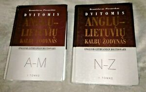 2 vols ENGLISH LITHUANIAN DICTIONARY ANGLU LIETUVIU - Bronislovas Piesarskas