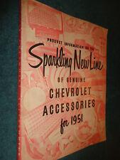 1951 CHEVROLET CAR & TRUCK CUSTOM FEATURE ACCESSORIES DEALER ALBUM / RARE ORIG!