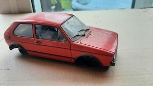 Solido 1:18 VW Volkswagen Golf GTi 1977 Red Barn Find Diorama BBS Recaros OZ G60
