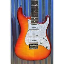 Vintage Guitars Custom Spec Hardtail V6HPFCB P90 Flamed Cherry Burst Guitar & Ca
