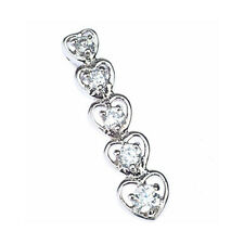Sterling Silver 925 Journey of Love CZ Drop Pendant