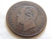 "1867-M Italy Five (5) Centesimi ""Vittorio Emanuele ll"" Coin"