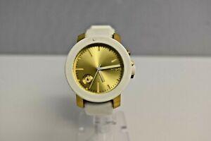 New Nixon Raider White Gold White Crystals A317 111-00 $450 Watch