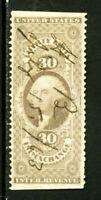 US Stamps # R526 30c Revenue XF Part Perf Scott Value $90.00