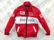 Kids Ferrari Red Vodafone Formula 1 Racing Padded Bomber Jacket Age 8 EUR 128