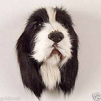 (1) BLACK.SPRING FUR LIKE SPANIEL DOG MAGNET! Very realistic collectible. GIFT?