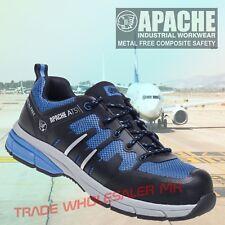Apache Strike Retro Suede Safety Work Trainer Shoe Steel Toe FREE BELT