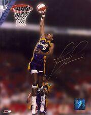 Lisa Leslie Autographed 8x10 Wnba Logo Photograph Los Angeles Sparks Authentic
