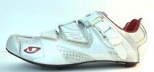 Giro Factor Easton EC90 Carbon sole Road Cycling Men Shoe White Red Silver  7.5