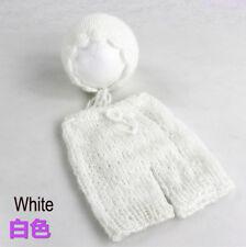 Newborn Baby Crochet Knit Mohair Photography Prop Costume Hat+Pants D325