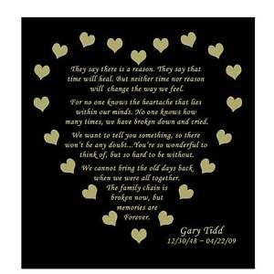 Engraved Memorial Poem Plate Personalized - Memories Are Forever -Gold or Silver