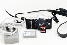 MINT Olympus PEN E-PL8 Mirrorless Camera Black Body ONLY 2K SHUTTER COUNT