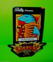 Bally POOL SHARKS Original Large Pinball Machine Plastic Promo Large Tiger Shark