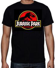 Jurassic Park Dinosaur Movie Red Logo Sci-Fi Action Adventure Movie Blk T Shirt
