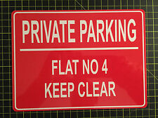 PERSONALISED PRIVATE NO PARKING METAL SIGN ANY COLOUR 10 X 8 Inch