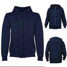 Mens Plain Hoody Hoodie Jacket Hooded Fleece Knit Zip Up Sweatshirt Zipper Top