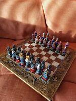 Unique Ceramic Chess Full Set - 32 pieces & heavy duty thick ceramic board.