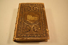 COMPLETE POETICAL WORKS OF THOMAS MOORE 1860s Elegantly Illustrated FULL LEATHER