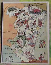 Carte de France Illustrées d'après Pinchon Colmar Ballon d'Alsace Cigogne Thann