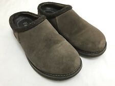 Mens SIMPLE Bravado Brown Leather Mules Clogs Loafers Shoes SIZE 7 M